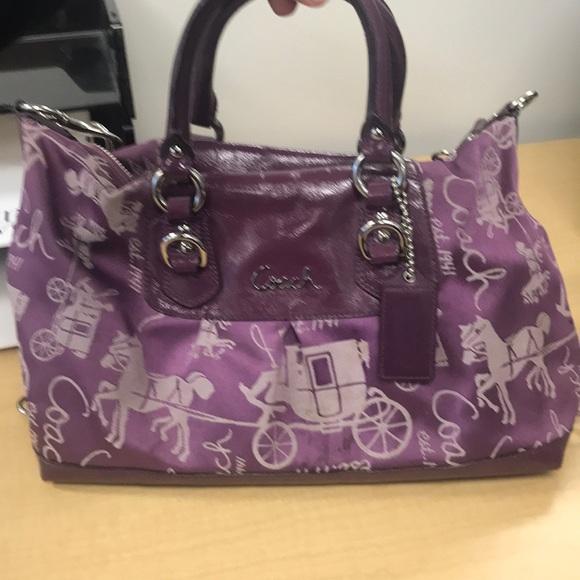 c24c409e38f7 Coach Handbags - Purple coach purse (shoulder bag)
